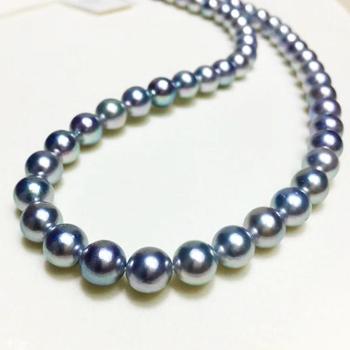 Pedras azuis Akoya perlas