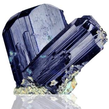 Pedras azuis Azurite