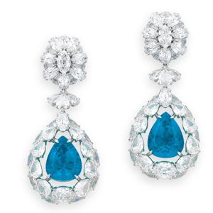 Significado das pedras, Paraiba Earrings Christie's